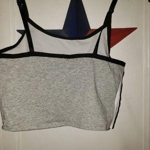 PINK Victoria's Secret Tops - PINK brand crop top with built in shelf bra